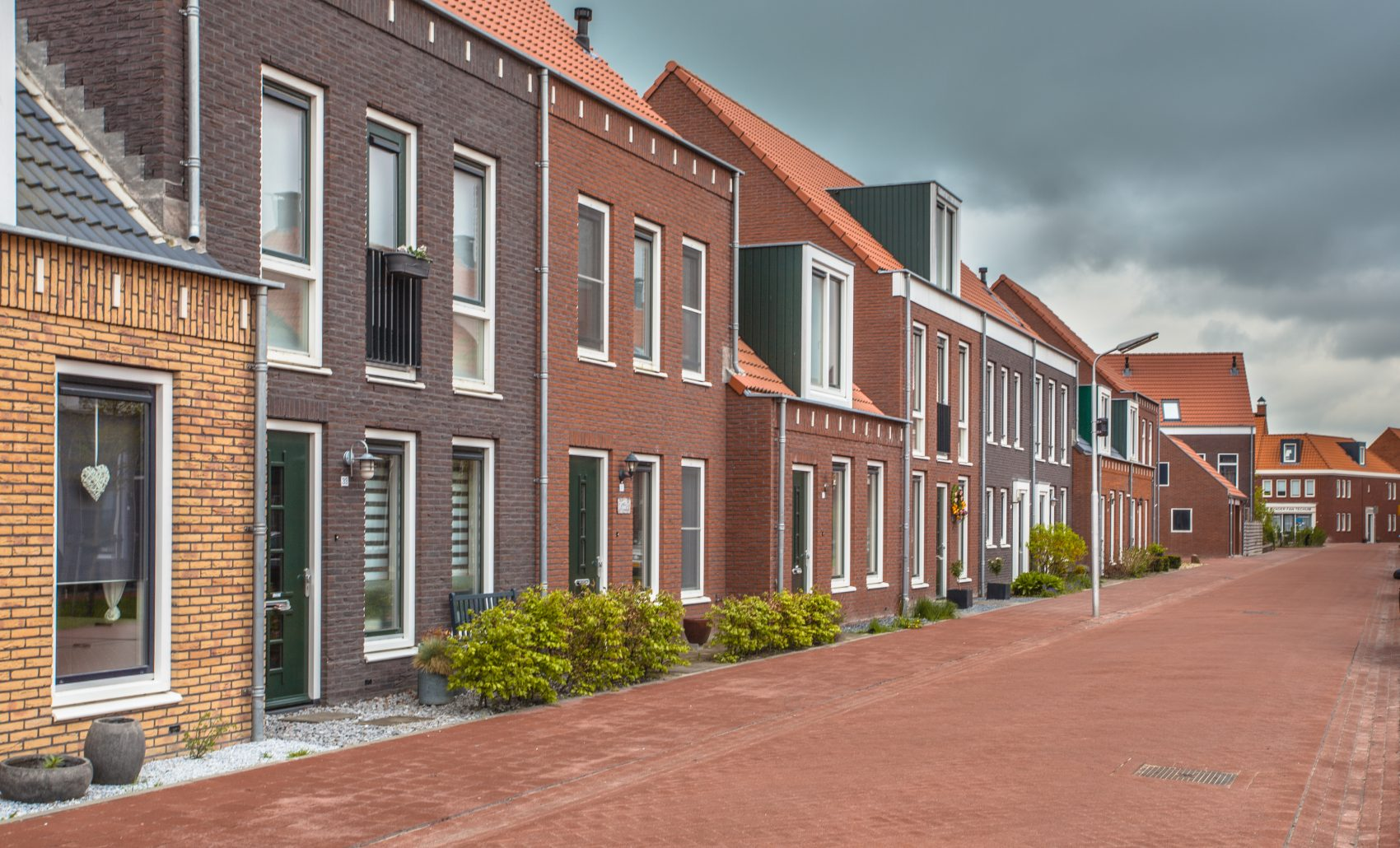 Modern village street in Contemporary Vintage Traditional Style